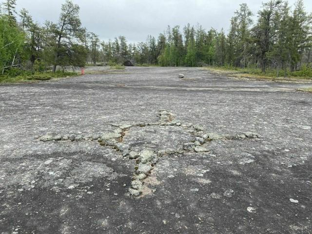 Une vue de l'une des pétroformes à Bannock Point